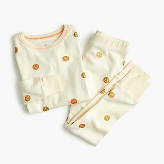 J.Crew Girls' pajama set in emoji print