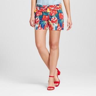 "Merona Women's 5"" Watercolor Floral Chino Shorts - Merona Floral $19.99 thestylecure.com"