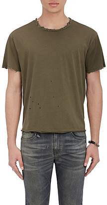 R 13 Men's Destroyed Pima Cotton T-Shirt - Olive