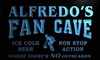 AdvPro Name td268-b Alfredo's Basketball Fan Cave Man Room Bar Beer Neon Light Sign
