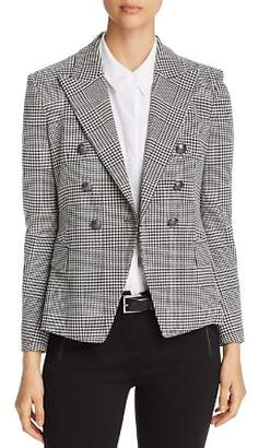 Elie Tahari Jezebel Houndstooth-Plaid Fitted Blazer - 100% Exclusive