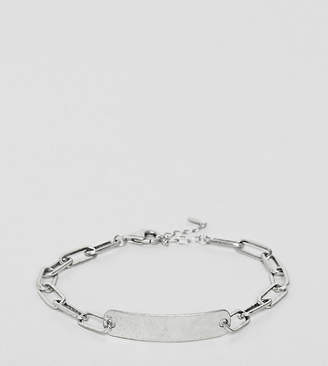 51f5da246dd1c Asos Designb London DesignB id chain bracelet in sterling silver exclusive  to