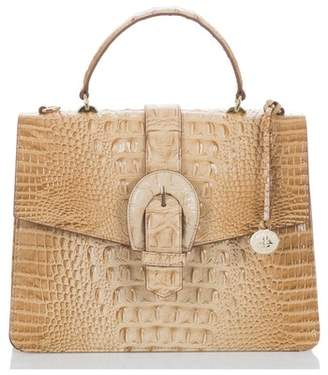 Brahmin Melbourne Gabriella Embossed Leather Satchel