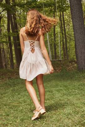 Urban Outfitters Harper Tiered Lace-Up Babydoll Dress