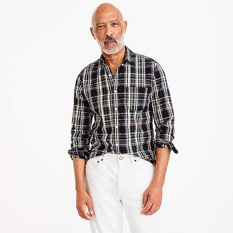 J.Crew Slim Indian madras shirt in dark plaid