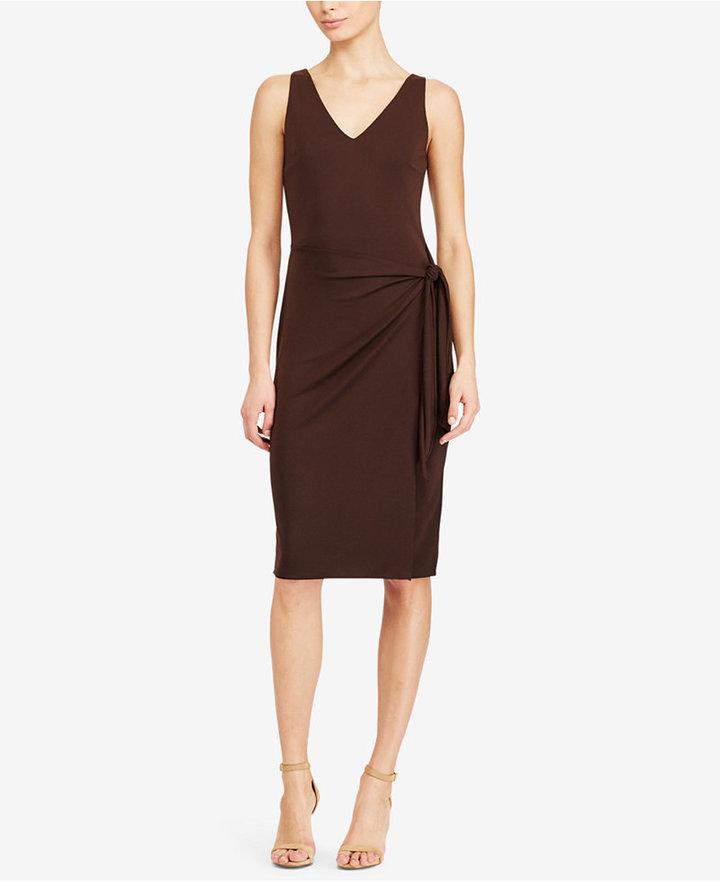 Lauren Ralph Lauren Faux-Wrap Jersey Dress