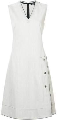 Derek Lam V-Neck Colorblocked Dress