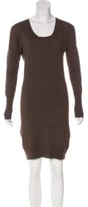 Scoop Long Sleeve Sweater Dress