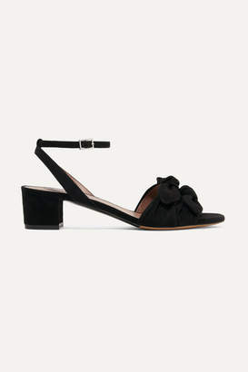 Tabitha Simmons Eloy Bow-embellished Suede Sandals - Black