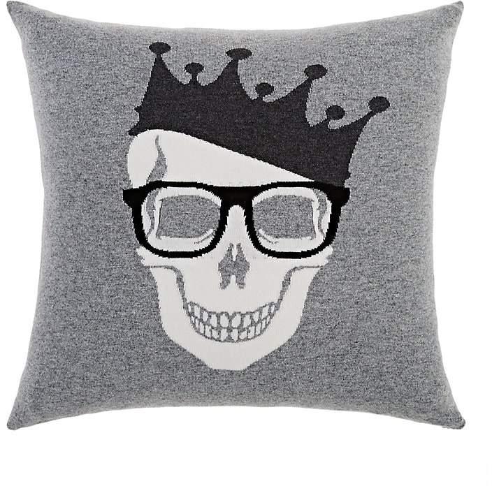 Rani Arabella Crowned-Skull Cashmere-Blend Pillow