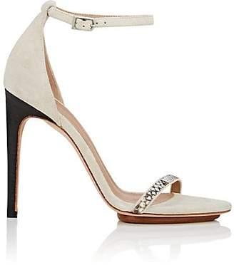Calvin Klein WOMEN'S VALERY SUEDE & PYTHON SANDALS - BEIGE/TAN SIZE 11