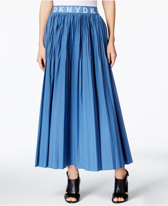 Dkny Pleated A-Line Skirt $398 thestylecure.com
