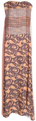 Acne Studios Paneled Printed Wool-Twill And Gauze Maxi Dress