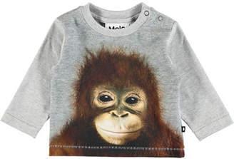 Molo Enovan Car Smoke Long-Sleeve T-Shirt, Size 6-24 Months