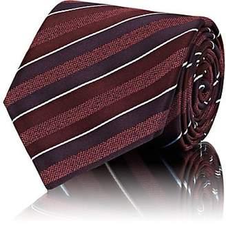 Brioni Men's Striped Silk Necktie - Red