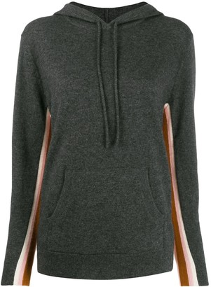 Parker Chinti & contrast cashmere hoodie