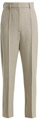 MM6 MAISON MARGIELA Checked Wool Blend Trousers - Womens - Beige Multi