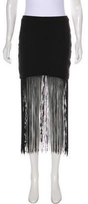 Karina Grimaldi Fringe-Trimmed Mini Skirt