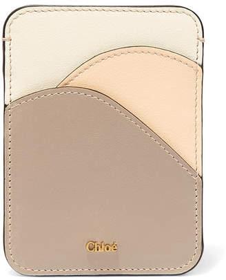 Chloé Color-block Leather Cardholder - Gray
