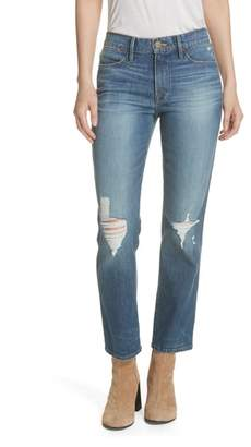 Frame Le High Double Needle Straight Leg Jeans