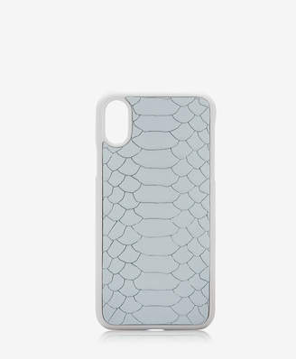 GiGi New York iPhone X Hard-Shell Case, Almond Embossed Python