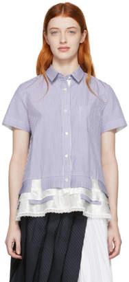 Sacai Blue and White Pinstripe Shirt