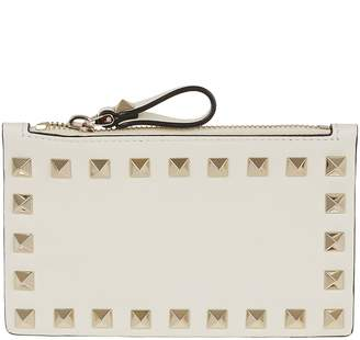 Valentino Rockstud Zipped Card Case