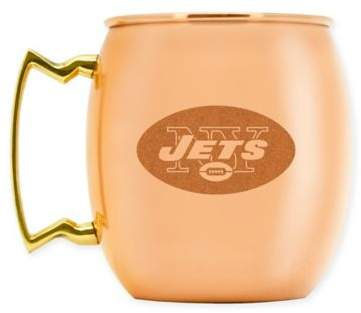 NFL New York Jets 16 oz. Copper Moscow Mule Mug