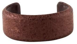 Brunello Cucinelli Narrow Leather Cuff