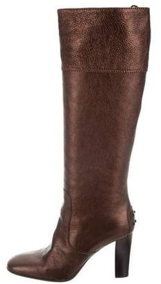 Tod's Metallic Knee-High Boots