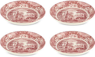 Spode Cranberry Italian Pasta Bowls, Set of 4