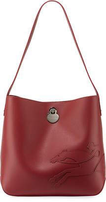 Longchamp Shop-It Leather Hobo Bag