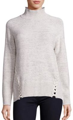 Rebecca Taylor Rebecca Taylor Lace-Up Turtleneck Sweater