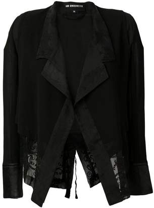 Ann Demeulemeester lace insert jacket