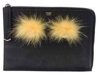Fendi Fox-Accented Monster Pouch