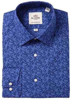 Ben Sherman Tailored Skinny Fit Floral Print Dress Shirt