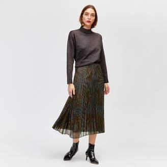 Warehouse Rainbow Foil Pleated Skirt