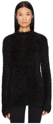 McQ Faux Fur Crew Neck Women's Dress