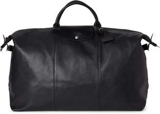 Longchamp Black Le Foulonne XL Leather Travel Bag