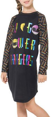 Power Rangers Long Sleeve Nightgown-Big Kid Girls