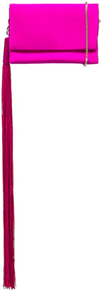 Galvan Small Rectangle Tassel Bag in Fuchsia | FWRD
