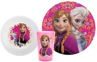 Zak Designs Disney Frozen Elsa & Anna 3-pc. Melamine Kid's Place Setting