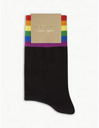Burberry Rainbow cuff merino wool-blend socks