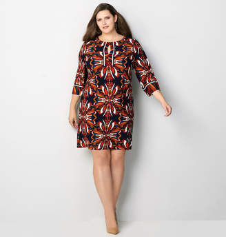 Avenue Abstract Medallion Peep Hole Dress