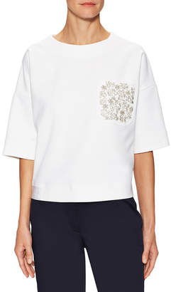 Christian Dior Embellished Drop Shoulder Top