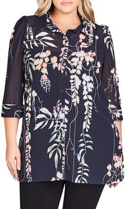City Chic Hothouse Vine Tunic Top