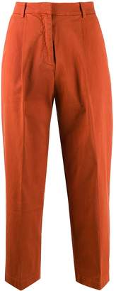 YMC high waisted cropped trousers