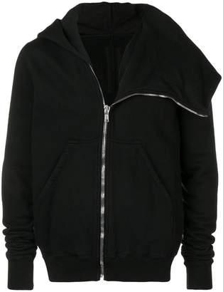Rick Owens asymmetric zipper hoodie