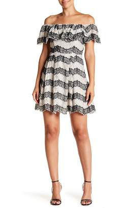 J.o.a. Lace Off-the-Shoulder Dress