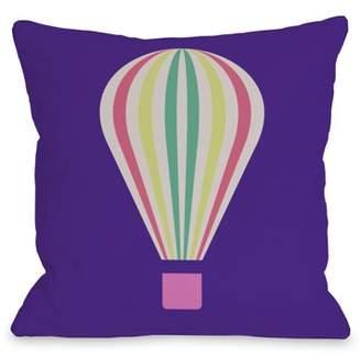 One Bella Casa Hot Air Balloon 18x18 Pillow by OBC